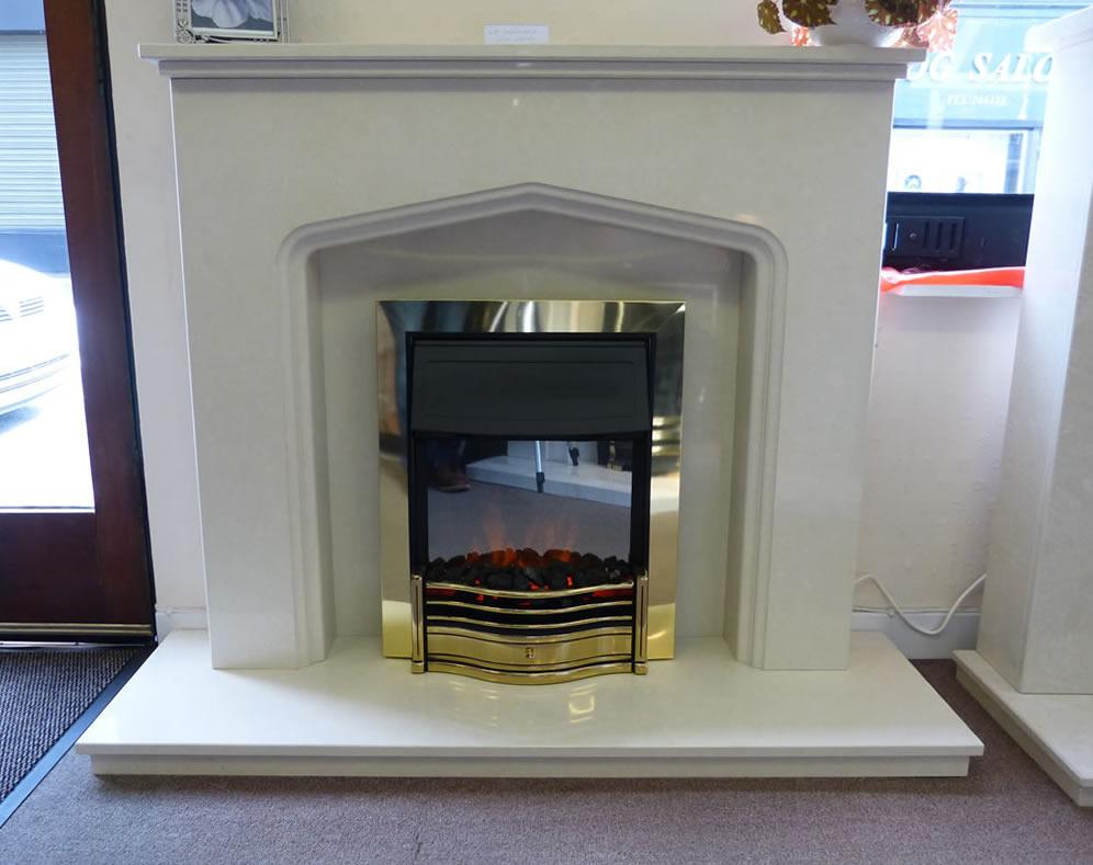 Dimplex Danesbury LED fire in an atlanta fireplace