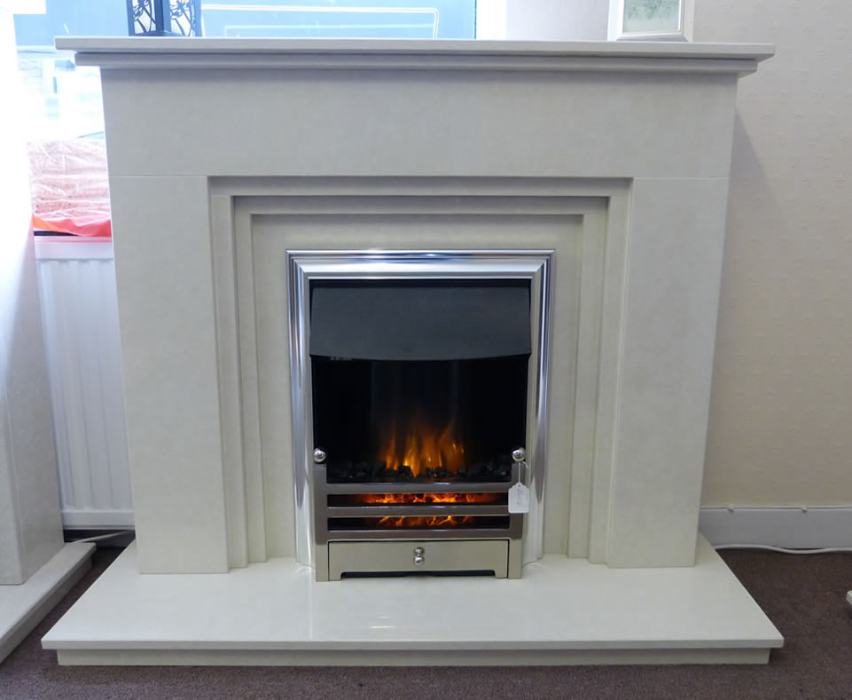 Flameright LED fire in a dorset fireplace
