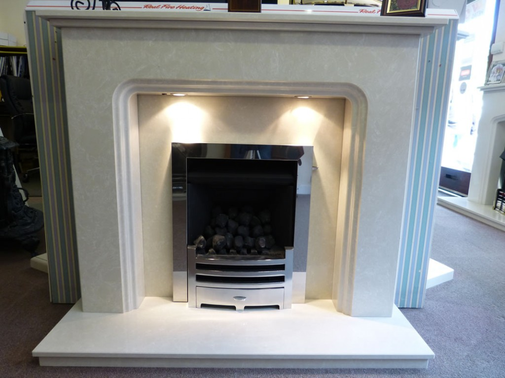 Gazco convector fire in a turin fireplace